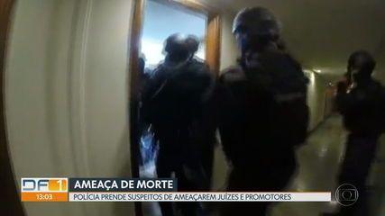 Polícia Civil prende dois suspeitos de ameaçarem de morte juízes e promotores