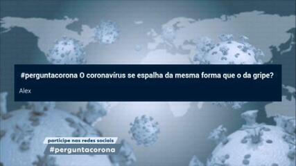 Coronavírus se espalha da mesma forma da gripe: pelas vias aéreas