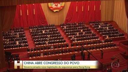 China abre Congresso Nacional do Povo e anuncia nova lei para Hong Kong