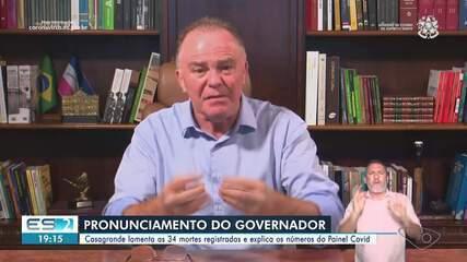 Casagrande chama atenção para o risco alto para Covid-19 em 12 cidades do ES
