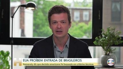EUA decidem barrar a entrada de brasileiros e estrangeiros que tenham passado pelo Brasil