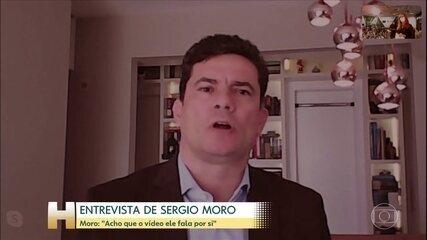 Em entrevista ao Fantástico, Sergio Moro reforçou que Bolsonaro tentou interferir na PF