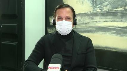 João Doria: 'Nesse momento não há perspectiva de lockdown'