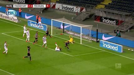 Os gols de Eintracht Frankfurt 3 x 3 Freiburg pelo Campeonato Alemão