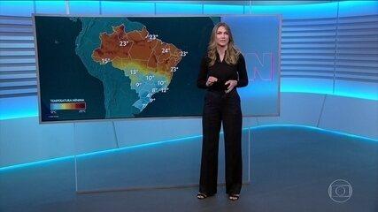 Veja a previsão do tempo para esta quarta-feira (27) em todo o Brasil