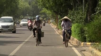 Índia sofre com onda de calor e infestação de gafanhotos