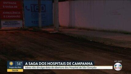 Cancelada, mais uma vez, a inauguração do Hosdpital de Campanha de São Gonçalo