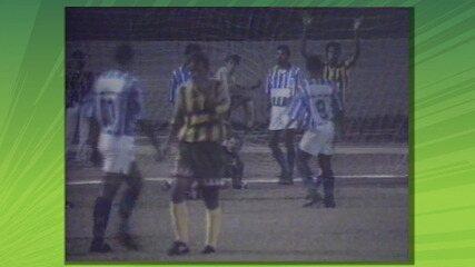 Sampaio Corrêa eliminava São Raimundo com placar agregado de 15 a 1. Confira quase todos os gols nas imagens são da TV Mirante