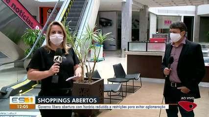 Governo do ES autoriza reabertura de lojas de shoppings