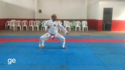 Jamerson Menezes, campeão da Master Masculina no Campeonato Universitário Online de Kata