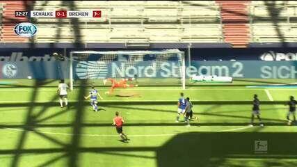 Os gols de Schalke 04 0 x 1 Werder Bremen pelo Campeonato Alemão