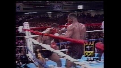 Em 1990, Mike Tyson nocauteia Alex Stewart
