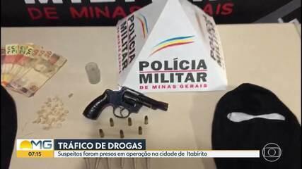 Suspeitos de tráfico de drogas são presos na cidade de Itabirito