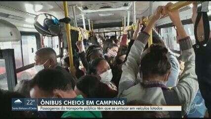 Problema de transporte público lotado permanece em Campinas