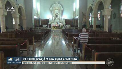 Igrejas e templos religiosos reabrem com restrições em cidades da região