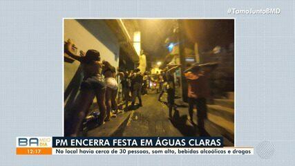 Flagrante: Polícia Militar flagra festa no bairro de Águas Claras, em Salvador