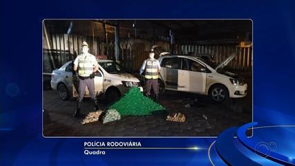 Motorista é preso com tabletes de maconha em veículo na Rodovia Castello Branco