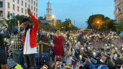 Protestos nos EUA chegam ao 9º dia com manifestações mais tranquilas