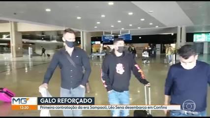 Léo Sena desembarca em BH para assinar com Atlético-MG; Alan Franco também na mira