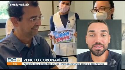 Torcedor do Bahia contaminado pela Covid-19 recebe alta e ganha recado de Gilberto