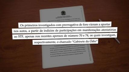 Aras diz que investigações de políticos com foro em inquérito das fake news têm relação com 'gabinete do ódio'