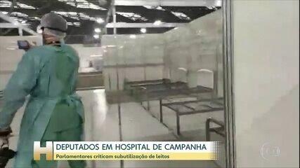 Deputados invadem hospital de campanha