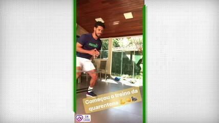 Com Coronavírus, zagueiro Léo, do Cruzeiro, treina em casa