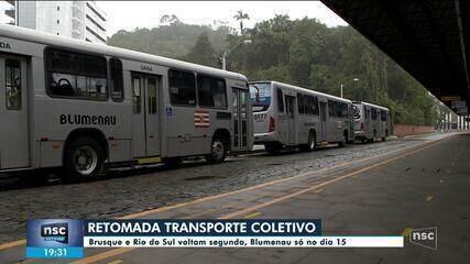 Cidades de SC se preparam para retomada do transporte coletivo na segunda-feira (8)
