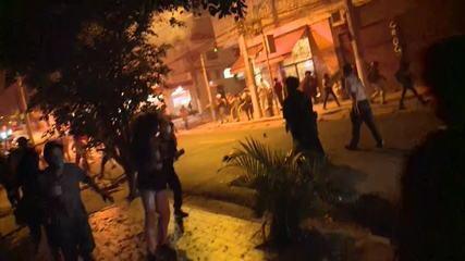 PM diz que fez dispersão de passeata porque acordo foi quebrado e houve depredação