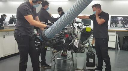Mercedes aciona motor de carro de 2018 para testes