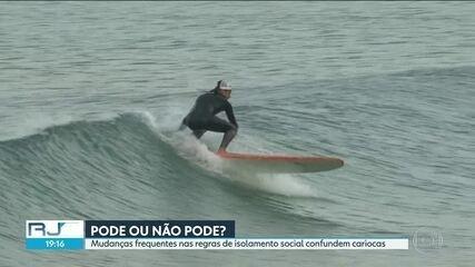 Mudanças nas regras de isolamento confundem os cariocas