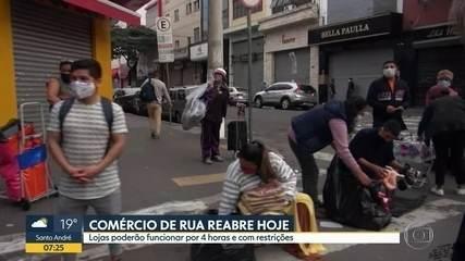 Comércio no Brás reabre com ruas lotadas e desrespeito às medidas de isolamento