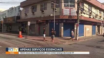 Betim: cidade volta atrás e fecha comércio por causa de alto número de casos de covid-19