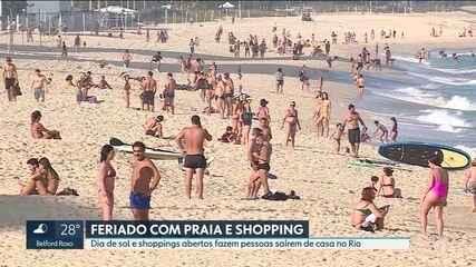 Feriado com praia e shopping no Rio
