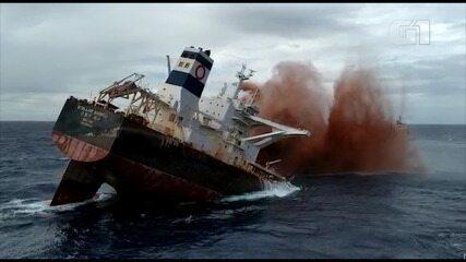 Navio Stellar Banner é afundado na costa do Maranhão