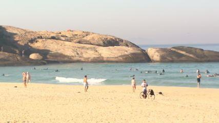 Rio registra grande movimentação nas praias