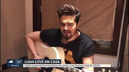 Globo vai transmitir live romântica do cantor Luan Santana a partir das 22h30