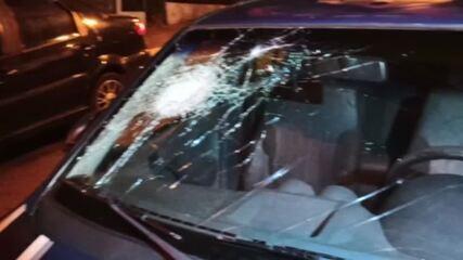 Viaturas da GCM de Diadema são danificadas durante confronto com manifestantes
