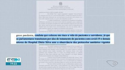 Governo do ES acusa grupo de deputados que visitou hospital de crime contra saúde pública