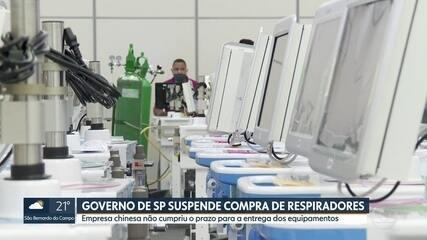 Governo do Estado de São Paulo suspende a compra de respiradores da China
