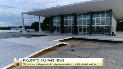 STF retoma julgamento sobre a legalidade do inquérito das fake news
