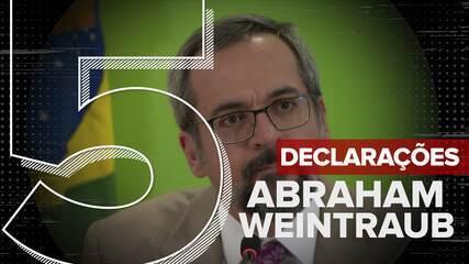 Veja declarações do ex-ministro da educação Abraham Weintraub