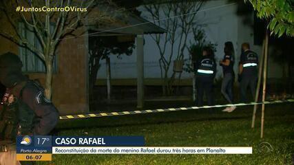 Reconstituição da morte de menino de 11 anos em Planalto dura cerca de três horas