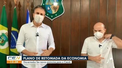 Camilo Santana realiza anúncio sobre avanço da retomada da economia em Fortaleza