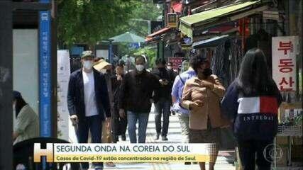 Autoridades de saúde da Coreia do Sul diz que país já enfrenta segunda onda da Covid-19