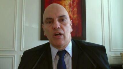 Moraes diz que há indícios de associação criminosa para financiar atos antidemocráticos