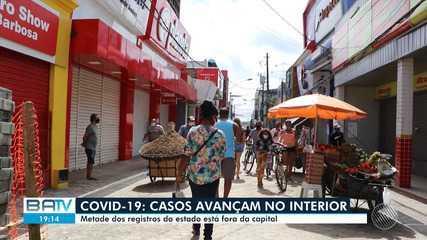 Aumento dos casos de coronavírus no interior do estado preocupa autoridades