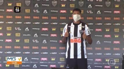 Atlético-MG apresenta atacante Marrony, que fala da expectativa de trabalhar com Sampaoli