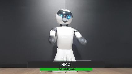Robô criado em Criciúma representa marcas e interage com clientes