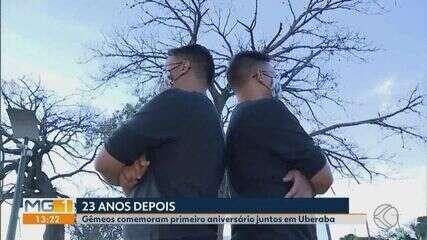 Gêmeos cearenses separados no nascimento se encontram 23 anos depois em Uberlândia
